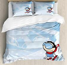 Kids Sports Duvet Cover Set Twin Queen King Sizes with Pillow Shams