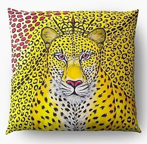 Original Patterned Yellow Leopard Decorative Pillow Cover