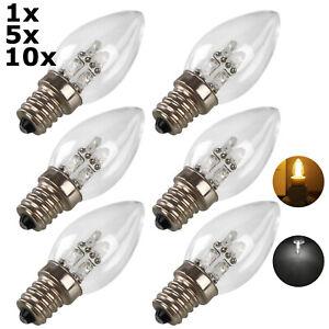 1X 5X 10X E12 LED Candle Light Chandelier Bulb Buddha Table Lamp 220V 230V Home