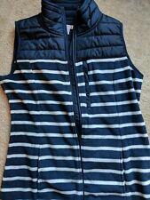 Nautica Blue And Navy Blue Stripe Half Vest Size S Women fleece jacket