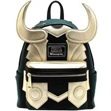 Avengers Loki Mini Backpack School Bag Green And Gold Synthetic Leather Cosplay