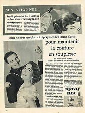 PUBLICITE ADVERTISING 015  1957  HELEN CURTISS  le SPRAY-NET   flacon rechargeab