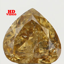 0.19 Ct Natural Loose Diamond Cut Heart Shape Yellow Green Color 3.70MM I1 N5282