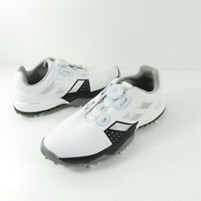 Adidas Adipower Boa Junior Jr White Black Leather Golf Shoes Youth SIZE 3
