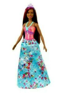 NEW Barbie Dreamtopia Princess Doll, 12-Inch, Brunette With Pink Hair Streak