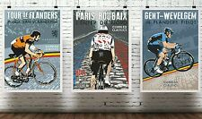 The cobbled classics poster collection. A3 size. Specially created
