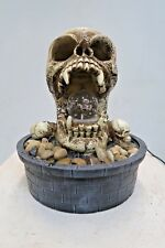 Skull small indoor / Outdoor table top Water fountain water feature