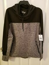 Carl Banks Women's 4Her G-III Black/Gray Pullover Hoodie Size L NWT