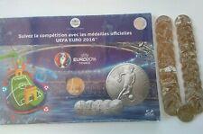 Collector UEFA France 2016 - 24 médailles des 24 pays + Livret