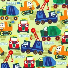 Little Movers Build More in Pain by Michael Miller Fabrics - 1 yard