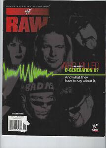 DEGENERATION X WWF RAW MAGAZINE SEPTEMBER 1999 w/DX CENTERFOLD POSTER