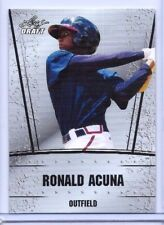 RONALD ACUNA 2018 LEAF DRAFT SILVER EDITION ROOKIE CARD! ATLANTA BRAVES PHENOM!