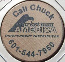 Vintage Chuck Market America Jackson, MS Wooden Nickel - Token Mississippi