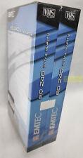 = EMTEC EQ 240 - VHS Video Cassette - brand new - sealed 2 pack
