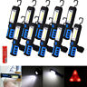 Rechargeable 3W COB LED Work Light Lamp Flashlight Inspect Torch 18650 w/ Hook D