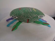 Mexican Wooden Oaxaca Folk Art Crab Different Colored Legs Marked on bottom RS