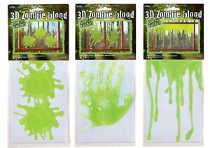 3D Zombie Blood Ooze Window Alien Halloween Party Decoration Hands Splats Drips