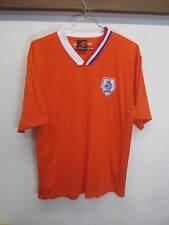 EUC! KNVB Jersey Netherlands National Soccer Football team bright orange sz L