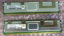 2 x Qimonda HYS72T64400HFD-3S-A 512MB 1R x 8 PC2-5300F CL5 Fully Buff ECC Memory
