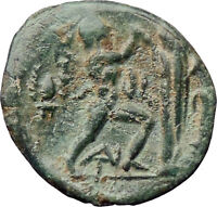 Antigonos II Gonatas Macedon King  Ancient Greek Coin Nude PAN Athena i30536