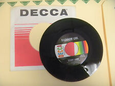 BOBBY LORD rainbow girl / do you ever think of me DECCA  NEW OLD STOCK 45