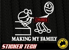 FUNNY MAKING MY STICK FIGURE FAMILY STICKER DECAL TO SUIT CHEV SS TURBO JDM EK