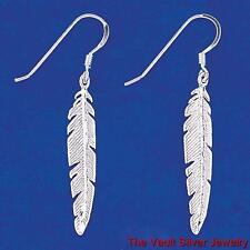Sterling Silver Feather Earrings 11160