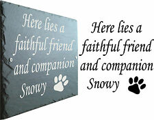 Slate House Sign 30cm X 25cm Traditional Rustic Style Now Only