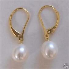 Beautiful!7-8mm White Pearl Earring Aaa
