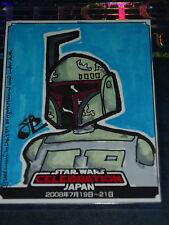 STAR WARS CELEBRATIONS JAPAN ULTRA RARE SKETCH CARD COLOR BY SB Spencer Brinkerh