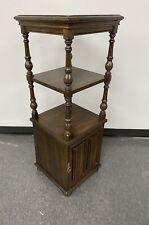 Ethan Allen Royal Charter Oak Etagere w/ Shelves & Cabinet - Jacobean *RARE*