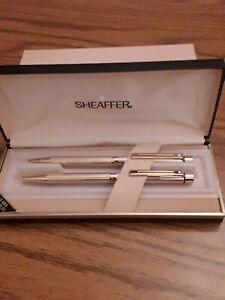 Sheaffer Ballpoint Pen & Pencil Set - 23K Gold Electroplate