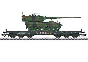 Märklin H0 48873 Schwerlastwagen mit Panzerhaubitze 2000 der DB AG - NEU + OVP