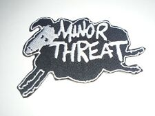 MINOR THREAT IRON ON EMBROIDERED PATCH