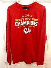 81d2aa5a Kansas City Chiefs 2018 AFC West Div Champions Roster on Back Long Sleeve  Sz S