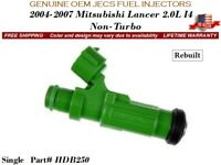Genuine Jecs Single Fuel Injector For 04-07 Mitsubishi Lancer 2.0L Non-Turbo
