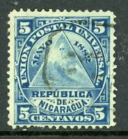 Nicaragua 1882 ABNC 5¢ w/ Granada Cancel VFU L806