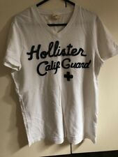 Small Hollister V Neck White Tshirt Tee Summer
