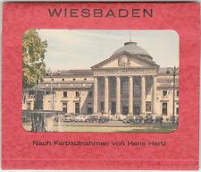 WIESBADEN Set of 7 Vintage Miniature Postcards (Germany Hans Hartz Photographs)