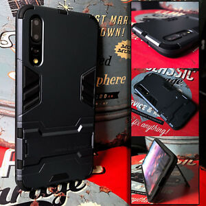 Samsung Galaxy A70  Rugged    Bumper Cover Armour Case & Stand    UAEX™