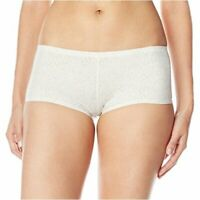 Maidenform Women's Comfort Devotion Boyshort, Silver Lynx/Ivory, Size 6.0 l5CX