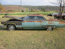 69 CADILLAC DEVILLE REAR BACK BUMPER CENTER MIDDLE CORE NEEDS REPLATE NO ENDS