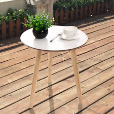 Modern Pine Coffee Table White End Table Top Natural Wood Legs Living Room White