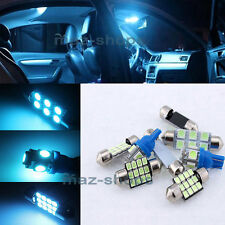 12x Ice Blue Interior LED Lights Bulbs Package For 98-02 Honda Accord Sedan MT