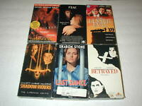 THRILLER MOVIES 6 PACK VHS MOVIE LOT RARE OOP HTF