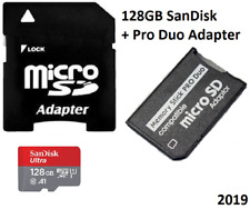 128GB  MEMORY STICK MSPD PRO DUO CARD FOR SONY PSP 1000 2000 & 3000 SERIES