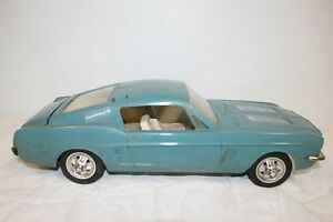 Large Vintage 1967 Wen-Mac Ford Mustang Fastback Friction Toy Dealer Promo Car