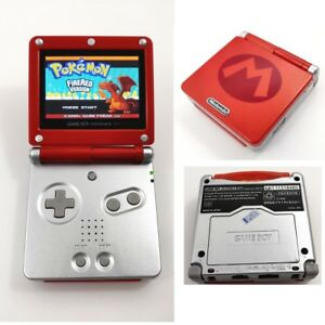 Red & Silver Mario Game Boy Advance GBA SP AGS 101 Brighter Backlit LCD Console