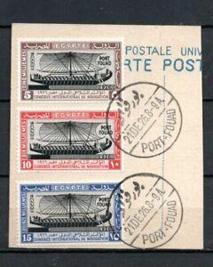 016. EGYPT 1926 Port Fouad Complete Set Used on Post Card