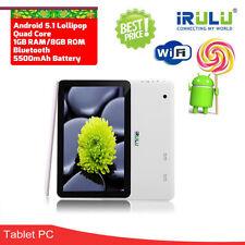 "iRULU x1Plus 10.1"" Android 5.1 Tablet PC 1+8GB Quad Core Bluetooth Pad 1024x600"